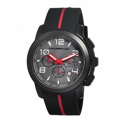 Morphic M22 Series Watch,Black Silicone Band,Red Hand,Black Bezel,Grey : MPH2206