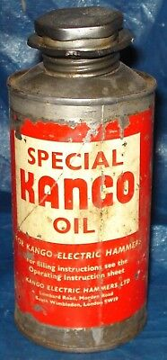 KM225 Vtg Special Kango Electric Hammer Oil Can Tin