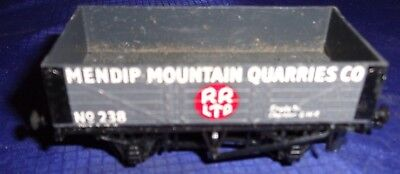 DE054 Vtg Peco Mendip Mountain Quarries Co Model Railway Train Car OO Gauge