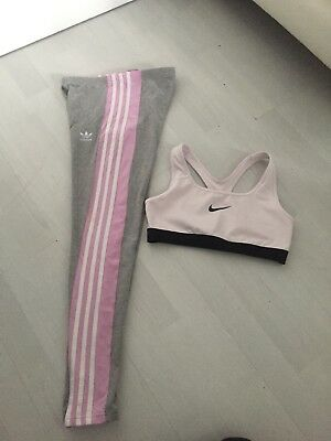 Adidas Leggings And Nike Cropped Top Age 12-13yrs