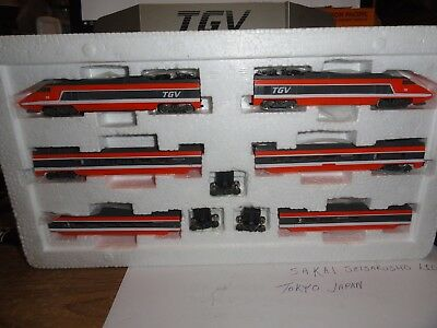 N Scale Bachmann TGV French High Speed Passenger Train Set for repair or parts