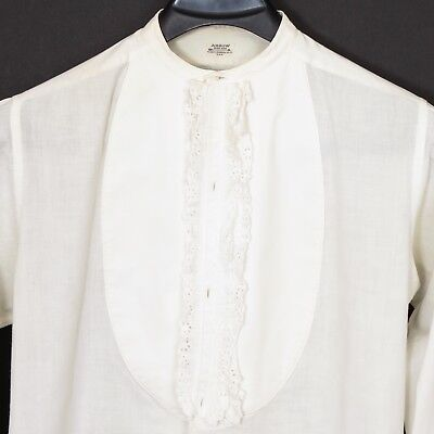 Vintage Arrow ruffled bib-front formal shirt, 1920's?, 15.5/35