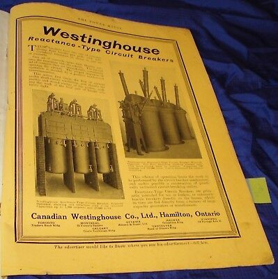KM218 Vtg Westinghouse Circuit Breaker Ad Dated 1916