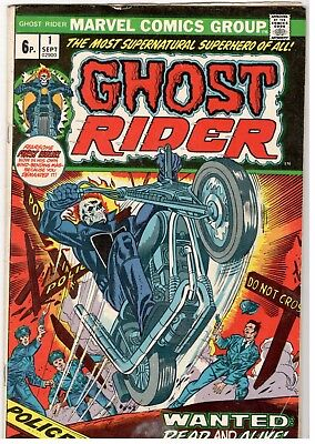 Ghost Rider No.1; Marvel/1973; Vg..bronze Age Key Issue..