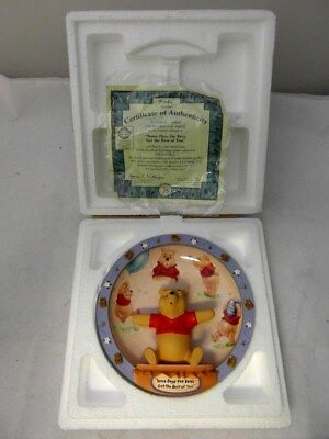Wiinie the Pooh BradEx Disney 100 Acre Days 3D Limited Edition plate #B2060 NEW