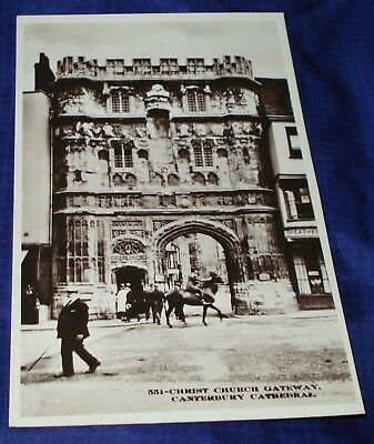 KM210 Vtg Old Canterbury Cathedral Photo PostCard