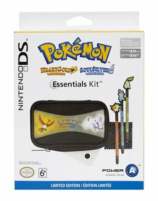 (pa2) Pokemon Silver Gold Nintendo DS Accessory Pack - Case & Styluses - New