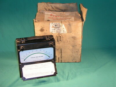 Sangamo Weston Frequency Meter Model 5105 , 170 - 230 Volts 300 - 500 Cycles Per