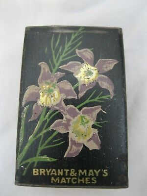 Less Common Bryant And May's Matchbox Cover With Exotic Flowers
