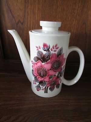 Lord Nelson~New Dawn~Pink Floral Coffee/Espresso/Tea Pot 1960's/70's?