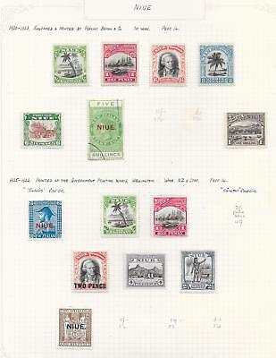 Niue 1920 Collection of 14 stamps ATTRACTIVE Lot!