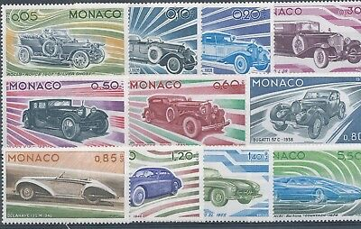[P9614] MONACO 1975 Cars nice set Very Fine MNH stamps value $50