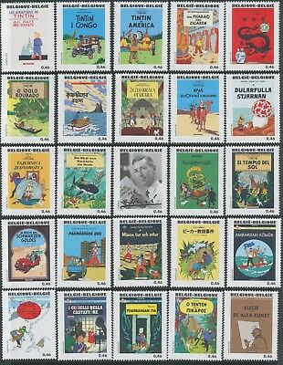 [ST0157] Belgium 2007 Good set perfect MNH Tintin Covers