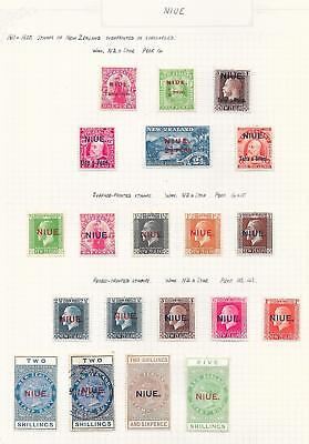 Niue 1911 Collection of 20 stamps ATTRACTIVE Lot!