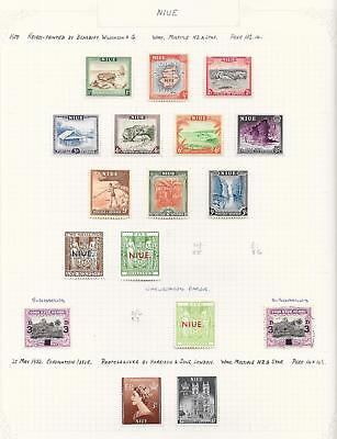 Niue 1950 Collection of 17 stamps ATTRACTIVE Lot!
