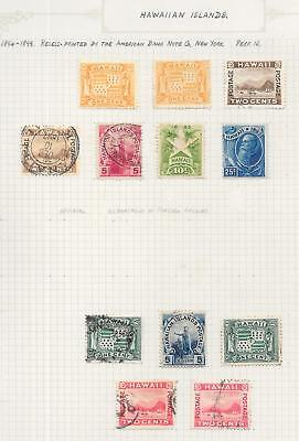Hawaii stamps 1894 Collection of 12 CLASSIC stamps HIGH VALUE!