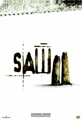"SAW II 2005 Advance Teaser Ver A DS 2 Sided 27X40"" Movie Poster Tobin Bell Smith"
