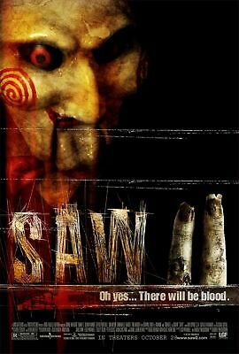 "SAW II 2005 Original DS 2 Sided 27X40"" Movie Poster Tobin Bell Donnie Wahlberg"