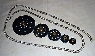 MECCANO FRENCH SPROCKET SET No's: 94,95,95a,95b,96 & 96a - TOTAL 6pcs