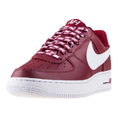 Mens Nike Air Force 1 07 Lv8 Leather Red Branded Footwear Shoes Trainers Casual