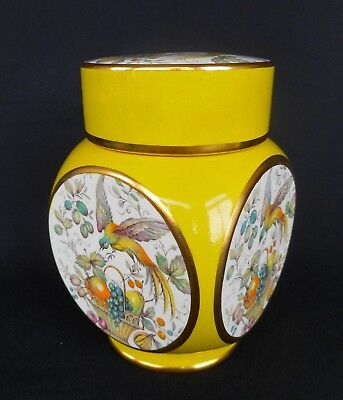 A Carlton Ware Ginger Jar Decorated With Basket Of Fruit & Exotic Bird ~ Lovely!