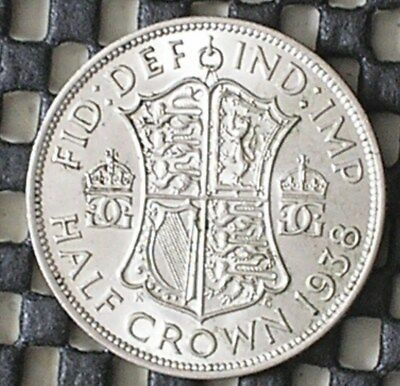 1938 King George V1 British Silver Half-Crown Coin