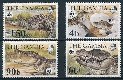 [E14125] Gambia 1984 WWF Crocodils good set of stamps  very fine MNH