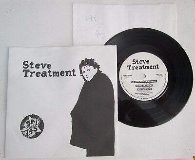 """STEVE TREATMENT. 5A-SIDED 4.1st ORIG UK 7"""" 45 VINYL EP.SIGNED.1978.GEAR TWO.GLAM"""