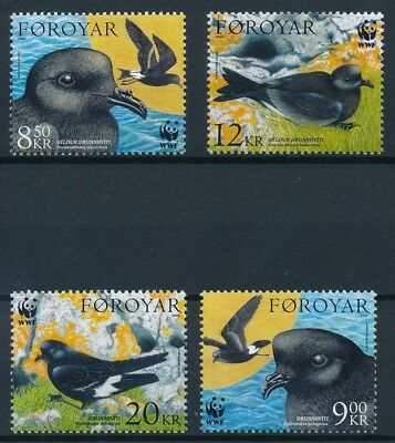 [E14266] Feroe 2005 WWF Birds good set of stamps very fine MNH