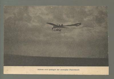 WW 1,old post card: Deperdussin 1910 Monoplane aircraft, French front.   c14
