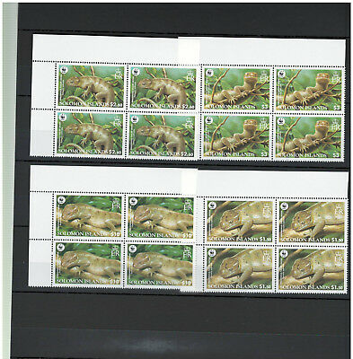4 x SOLOMON ISLANDS, Stamps, WWF, Nature, Animals, Tiere, Reptiles, MINT NH -
