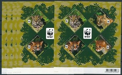 [GE15215] Thailand 2011 WWF Felins good sheets (x5) very fine MNH