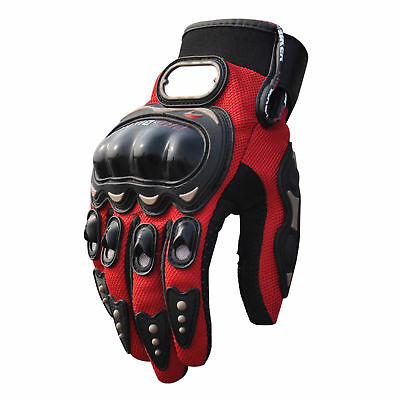 3D Breathable Bike Motorcycle Racing Gloves M Red
