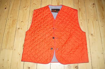"""Belstaff Original 70s red quilted waistcoat gilet liner size  M 48"""" chest apprx"""