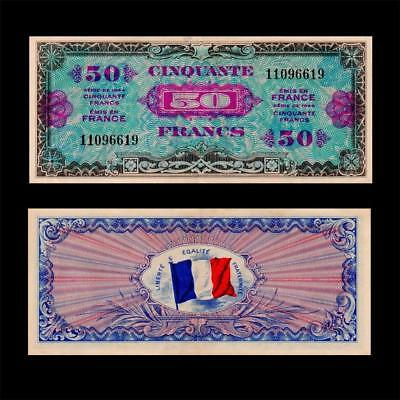 1944 France French Allied Military, 50 Francs » Cv $60 «