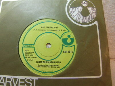 """Edgar Broughton Band – Out Demons Out 1970 7"""" Harvest HAR 5015"""