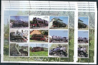 [STG34164] Niger 1998 Trains good sheets very fine MNH (x10)