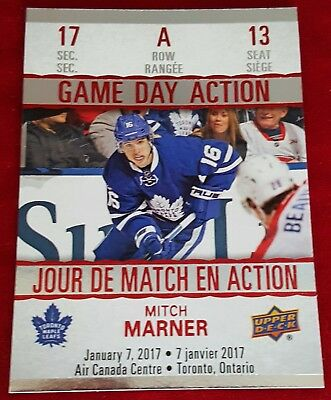17/18 UD Tim Hortons ☆GAME DAY ACTION☆ Mitch Marner  GDA-13  <Free S&H>