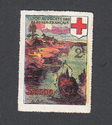 France Poster Stamp  WW1  Delandre WAR SAIGON