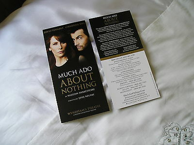 DAVID TENNANT & CATHERINE TATE - Lovely tour flyer MUCH ADO ABOUT NOTHING