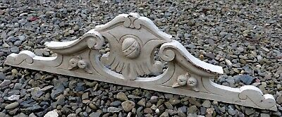 Antique French Hand Carved Solid Oak Empire Style Wooden Door/Furniture Pediment