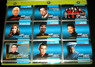 93 Different 1992 Star Trek The Next Generation Collectible Trading Cards