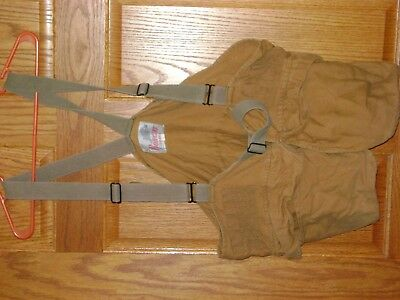 XL Duck Brown BOBCAT Brand Hunting Strap Vest with Gamebag & Shell Holders