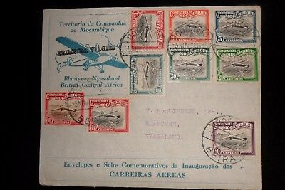 Mozambique To Nyasaland  Illustrated  First Flight Cover  Scarce