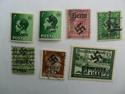 GB Channel Islands Occupation Swastika Overprints Inc 1940