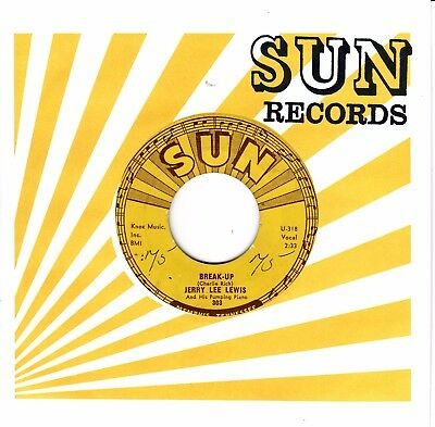 """7""""-  Jerry Lee Lewis = Break-Up  / I'll It All Up To You"""