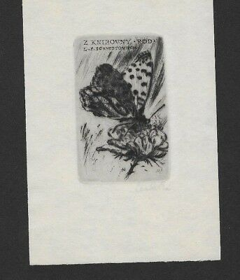 42)Nr.065  - EXLIBRIS, Mahelica - Schmetterling / butterfly