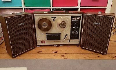 Sony TC-270 Reel to Reel Tape player recorder with speakers full working order