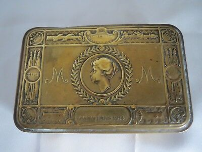 WW1 Queen Mary 1914 Christmas tin- 100% of sale to Commonwealth War Graves Comm.