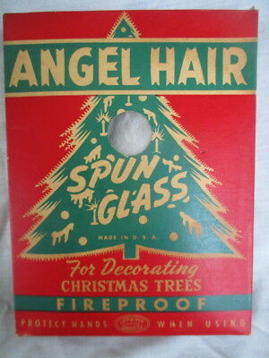 Vintage 1950's Spun Glass Angel Hair Christmas Tree Decoration in Original Box
